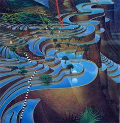 surreal landscapes by Mati Klarwein - Soundscape