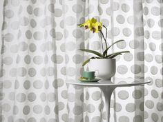 Ondo Drapery. Ondo is a large scale drapery sheer with a series of two-tone circles that add texture and depth. #pantone #colortrends2014 #paloma
