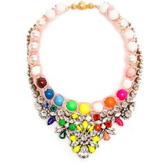 SHOUROUK Theresa Crystal, Pearl and Enamel Beaded Necklace