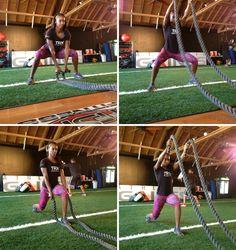 Battle ropes for beginners