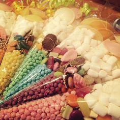 Rainbow sweet cones