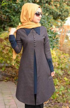 like the color combo Abaya Fashion, Modest Fashion, Fashion Dresses, Muslim Dress, Hijab Dress, Moslem Fashion, Islamic Clothing, Up Girl, African Fashion