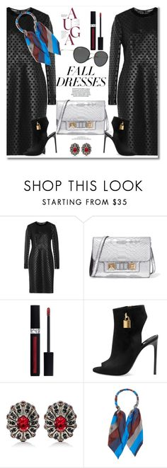 """Get the look Fall dress"" by vkmd ❤ liked on Polyvore featuring Tom Ford, Proenza Schouler, Christian Dior, Alexander McQueen, Balenciaga, Vogue Eyewear and falldresses"