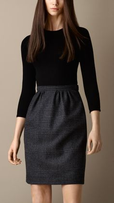 Check Skirt Shift Dress | Burberry