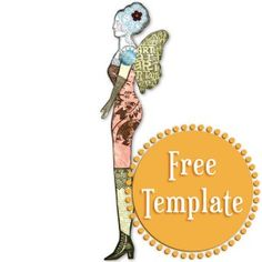 Winged Doll Template