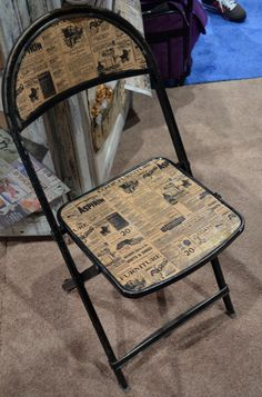 If it can be decopauged… | 30 Cool Things You'll See At The World's Largest Crafting Convention 7gypsies decoupaged vintage chair