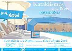 #Celebrate #Kataklismos at the #New Poseidonia Beach Hotel this #Year! #Great #occasion to get #introduced and #CheckOut the #Changed and #Facelifted #PoseidoniaBeachHotel.. #SpecialOffer #Booknow #2Nights #Holidays #Vacation #Relax & #Unwind in one of our #SeaView or #InlandView #TwinRoom...#Cyprus #Limassol