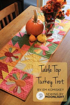 Moda Bake Shop: Table Top Turkey Trot so cute out of Floral Gatherings by Primitive Gatherings.  @ModaFabrics