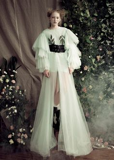 Fashion editorial SS/17 D`Lorem Tulle fashion dress with embroidery www.dlorem.com