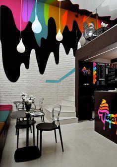#Level4 Graphic Design // Ice cream parlour shop interior // ©Jennie Aitken More
