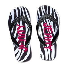 Zebra Design Flip Flop - Extra-Large in Christmas Preview 2012 from Lillian Vernon on shop.CatalogSpree.com, my personal digital mall.