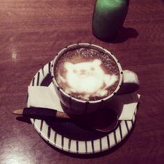 [2013/11/25]    食後の( ິ•ᆺ⃘• )ິ    カフェラテ +¥300      @ SCOPP CAFE (新宿)