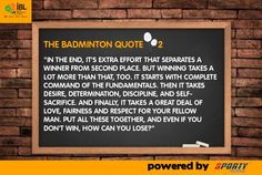 The Badminton quote 2