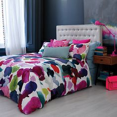 Too crazy to sleep in but love these colours bluebellgray Abstract Bedding