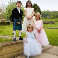 I want my flower girls to have the same dress but in a different pastel color.