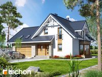 Dom w tamaryszkach 2 (NT) House Layout Plans, New House Plans, House Layouts, Micro House, Prefabricated Houses, Tiny House Living, Home Fashion, Pool Houses, House Front