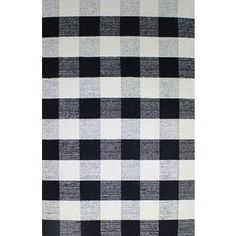 Shop for Royal Black and White Rug (5' x 8'). Get free shipping at Overstock.com - Your Online Home Decor Outlet Store! Get 5% in rewards with Club O! - 16609582