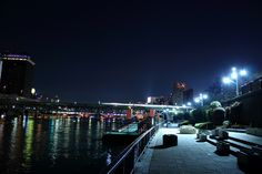 Tokyo, Sumidagawa River side in the night.