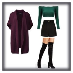 A fashion look from January 2018 featuring women's plus size cardigans, off the shoulder long sleeve top and high-waisted shorts. Browse and shop related looks. Size Clothing, Plus Size Outfits, Valentino, Shoe Bag, Polyvore, Red, Stuff To Buy, Shopping, Collection