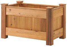 Plans and instructions for building deck planter