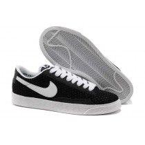 save off f3bd0 695aa Chaussures De Basket Nike Blazer 2013 Gypsophila Faible Homme Noir Blanc-20