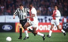 Christian Vieri, Juventus FC (1996–1997, 23 apps, 8 goals). The final of the previous season was repeated at the semi-final stage of the 1996-97 edition of the Champions League, with Juventus once again coming out victorious over Dutch giants Ajax. A tight 1st leg at the Amsterdam ArenA saw Nicola Amoruso and Christian Vieri take 2 goals back to Italy, with Jari Litmanen scoring for Ajax. The 2nd leg was a different story, as the Bianconeri demolished their opponents (Juventus vs Ajax 6-2).