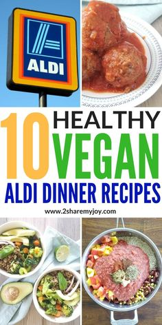 Healthy Vegan Aldi Recipes that are easy to prepare, frugal, and family friendly. These plant based Aldi dinner recipes are perfect for anybody on a budget, searching for healthy recipes, or on a weight loss journey. #aldilove #aldius #veganrecipes #onabudget