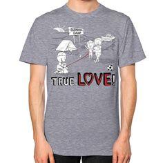 TRUE LOVE! Unisex T-Shirt (Color : Tri-Blend Grey) - By Wear Gordons