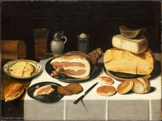 Floris van SCHOOTEN (documented in Haarlem between 1612 and 1655)  Still Life with Ham  H. 0.63 m; W. 0.83 m  Assigned to the Louvre by the Office des Biens Privés, 1951  | Louvre Museum | Paris