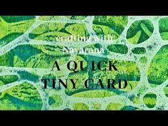 Crafting with Navarana - a quick tiny card - YouTube