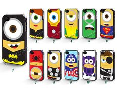 iPhone 5 Case, Despicable Me Minion, iPhone Case, Plastic Phone Cases, Case for iPhone  --04