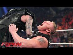 ▶ Seth Rollins vs Brock Lesnar - WWE World Heavyweight Championship Match: Raw, March 30, 2015 - YouTube
