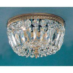 Classic Lighting Crystal Baskets Light Semi-Flush Mount & Reviews   Wayfair