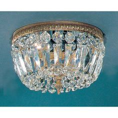 Classic Lighting Crystal Baskets Light Semi-Flush Mount & Reviews | Wayfair