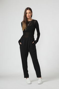tilt pant / black by Moochi. Everyday luxury, from off-duty essentials to coveted designer pieces. Buy Now! Off Duty, Tilt, Black Pants, Aw 2017, Jumpsuit, Stuff To Buy, Dresses, Fashion, Black Slacks
