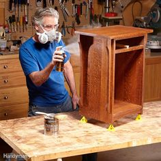 Here's a trick for getting a glass-smooth finish on your next woodworking project. Start by brushing on a coat of gloss polyurethane. Let it dry overnight. Then lightly sand with 320-grit sandpaper to remove imperfections. Use a tack cloth or vacuum cleaner and soft brush attachment to remove the dust. Repeat this process for the second coat. Finish up by spraying on the final coat. You can buy aerosol cans of polyurethane in satin, semigloss and gloss finishes. Any of these can go over the…