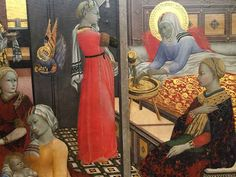 A divine work telling the story of The Birth of the Virgin by the Master of the Osservanza (1430-1450)