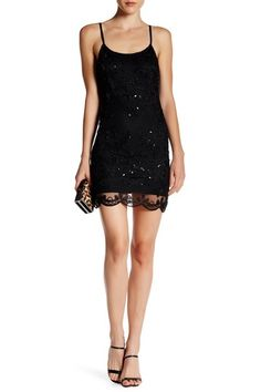 Beaded Mid Dress by Minuet on @nordstrom_rack
