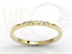 Pierścionek z żółtego złota z diamentami/ Ring made from yellow gold with diamonds/ 1 255 PLN #gold #diamonds #ring #jewellery