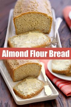 An easy recipe for a quick, filling and tasty almond flour bread. This almond fl… An easy recipe for a quick, filling and tasty almond flour bread. This almond flour bread is keto and paleo, and works great with both savory and sweet toppings. Best Keto Bread, Best Paleo Bread Recipe, Gluten Free Sugar Free Bread Recipe, Bread Recipe For Diabetics, Bread Machine Recipes Healthy, Paleo Sandwich Bread, Carb Free Bread, Diabetic Bread, Sandwich Recipes