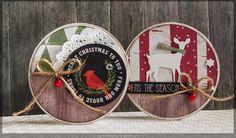 Runde Weihnachtskarten - ganz leicht selbermachen :)