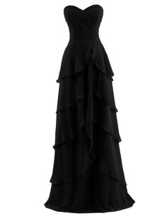 Dresstells Sweetheart Chiffon Prom Dress Long Evening Gown Formal for Women * For more information, visit now : Women clothing