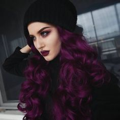 Hair, dark plum hair color, purple hair colors, deep burgundy hair color, d Dark Plum Hair Color, Deep Purple Hair, Purple Burgundy Hair, Purple Wig, Dark Purple Hair Color, Burgundy Colour, Purple Pixie, Pastel Purple, Ombre Color