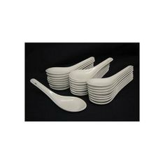 Chinese Porcelain Soup Spoons, 50 pc #B745 by JapanBargain. $21.50. Great for serving appetizers. Microwave and dishwasher safe. Box of 50 Spoons. White porcelain. Bundle of 50 Porcelain Chinese Soup spoons. These spoons are perfect for serving bite sized party appetizers or for restaurant use. These spoons measure about 5 inches long and are dishwasher and microwave safe. ***note that there is a small hole in the end of each handle of the spoons.