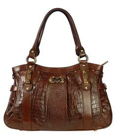 Silvio Tossi Crocodile effect leather bag in whisky, Designer Bags Sale, Outlet, Secret Sales