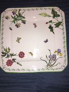 "Studio Nova Garden Bloom 16"" Square Serving Platter #MikasaStudioNova"