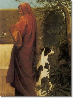 James Dromgole Linton - Dante with His Greyhound Above Florence 1899