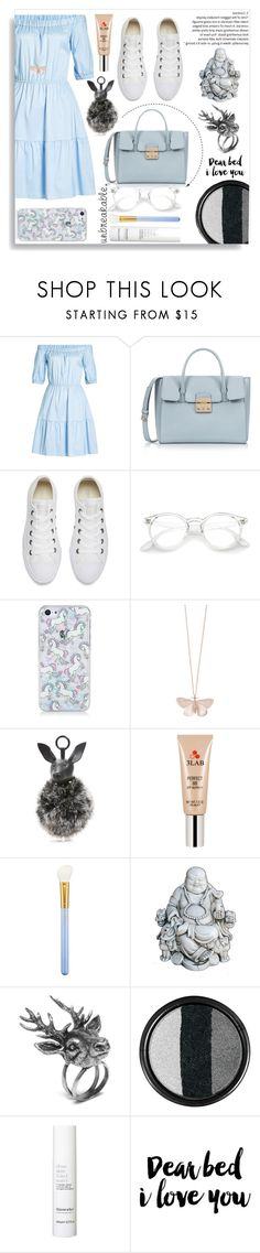 """Sin título #717"" by teresapulido ❤ liked on Polyvore featuring HUGO, Furla, Converse, Alex Monroe, Kendall + Kylie, 3LAB, MAC Cosmetics, Mulberry, Stila and This Works"