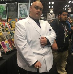 #TheKingpin.  If you see your picture or if you know who it is please shout them out so we can tag them! #NYCC #NYCC2016 #NewYorkComicCon #cosplay #cosplayers #cosplayer #Kingpin #WilsonFisk #Daredevil #Marvel