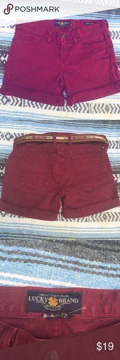 "Selling this Lucky brand ""Abbey"" longer cutoff shorts Marsala in my Poshmark closet! My username is: kajnadams. #shopmycloset #poshmark #fashion #shopping #style #forsale #Lucky Brand #Pants"